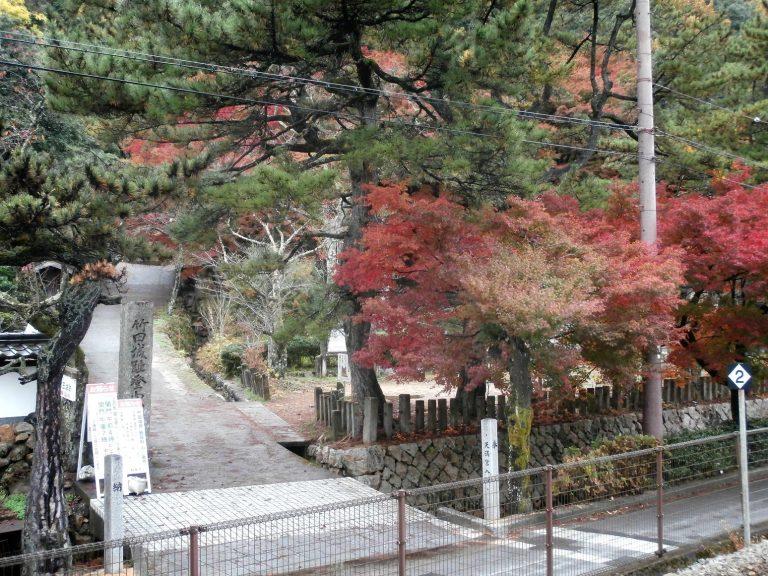 大阪自由行-日本機加酒-大阪景點-駅裏登山道入口未到紅葉季節已經開始有紅葉