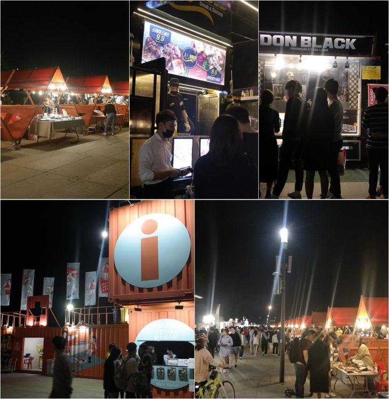 首爾自由行-韓國自由行-韓國旅遊-首爾景點-韓國機票-汝矣島漢江公園世界之夜美食車