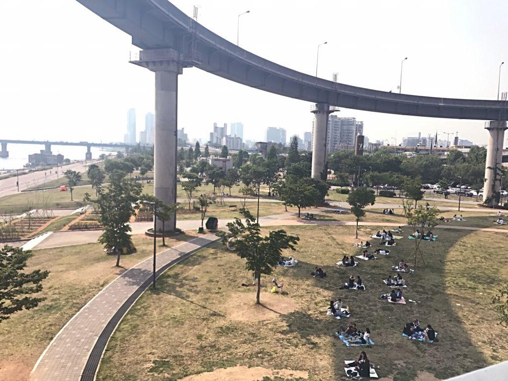 首爾自由行-韓國自由行-韓國旅遊-首爾景點-韓國機票-纛島漢江公園裡展望臺