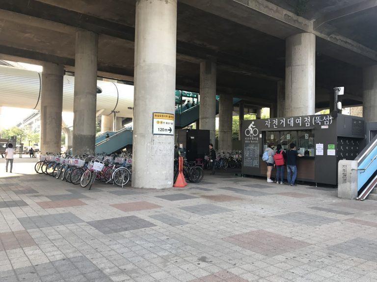 首爾自由行-韓國自由行-韓國旅遊-首爾景點-韓國機票-纛島漢江公園租借單車