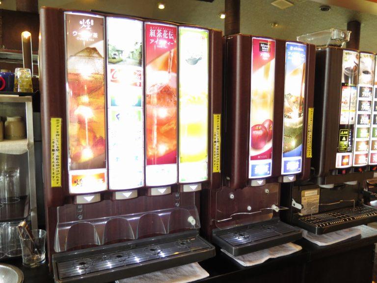 九州自由行-鹿兒島自由行-餐廳提供自助水吧有宮崎的日向夏飲品幾清新