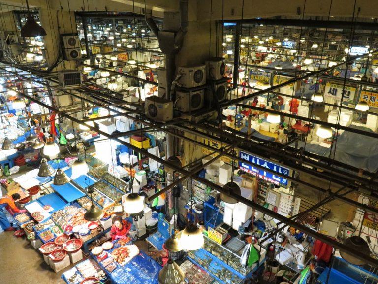 首爾自由行-韓國自由行-鷺梁津水產市場韓國最大型的水產品批發零售市場