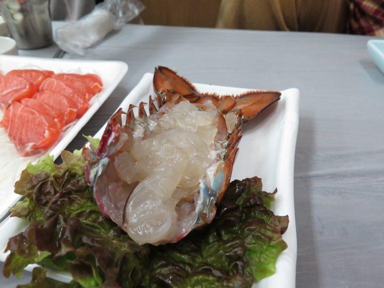 首爾自由行-韓國自由行-龍蝦刺身清爽而帶脆細味下非常香甜
