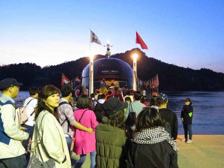 首爾自由行-韓國自由行-韓國旅遊-首爾景點-韓國機票-準備登船離開南怡島,期待下次重臨
