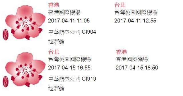 台北自由行-台北住宿-台北好去處-台灣自由行-華航機票內容