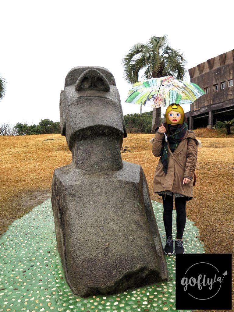 九州自由行-鹿兒島自由行-日本機加酒-福岡自由行-福岡景點-除了海邊的7座主摩艾石像,園內還有數座石像,相信是模仿復活島的情況