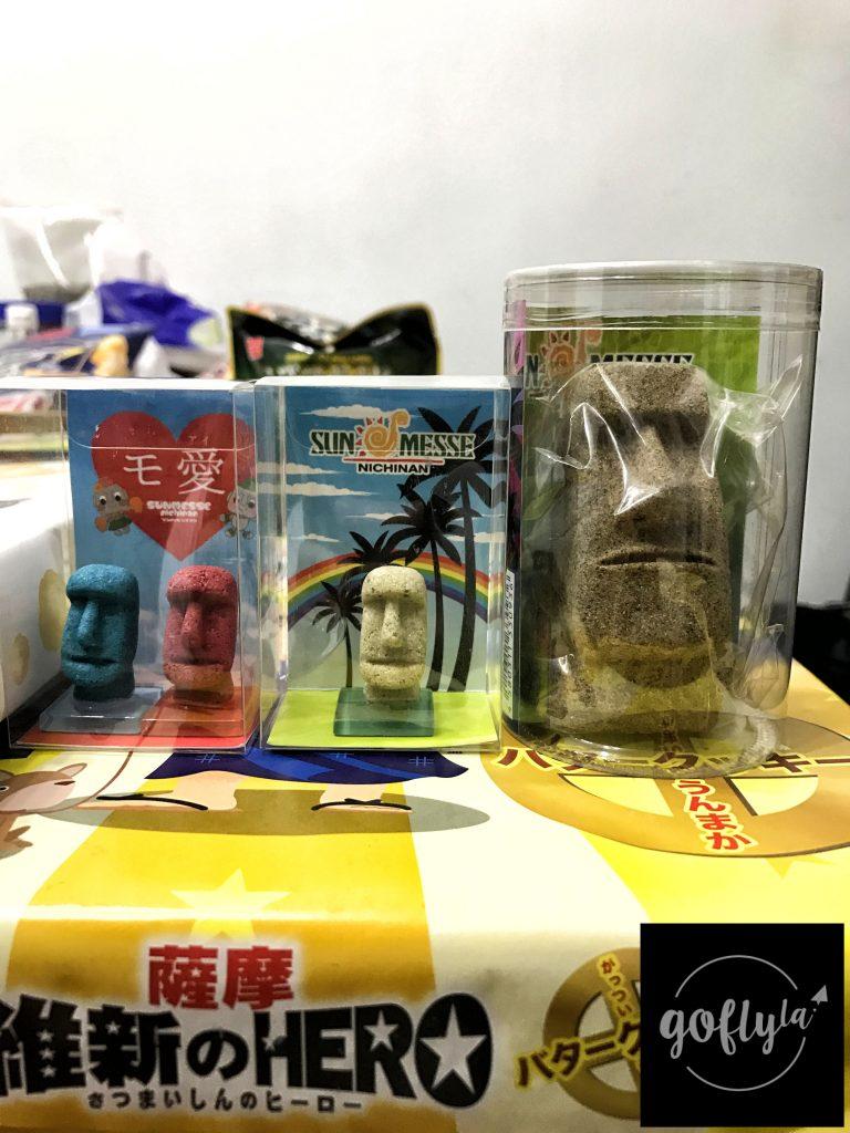 九州自由行-鹿兒島自由行-日本機加酒-福岡自由行-福岡景點-Sun-Messe的手信店有大量摩艾石像產品,值得花點時間逛逛,我買了這三隻