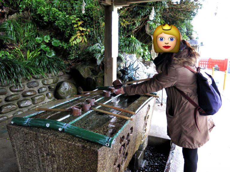 九州自由行-鹿兒島自由行-日本機加酒-福岡自由行-福岡景點-參拜前先洗手是常識吧,記得洗埋個口
