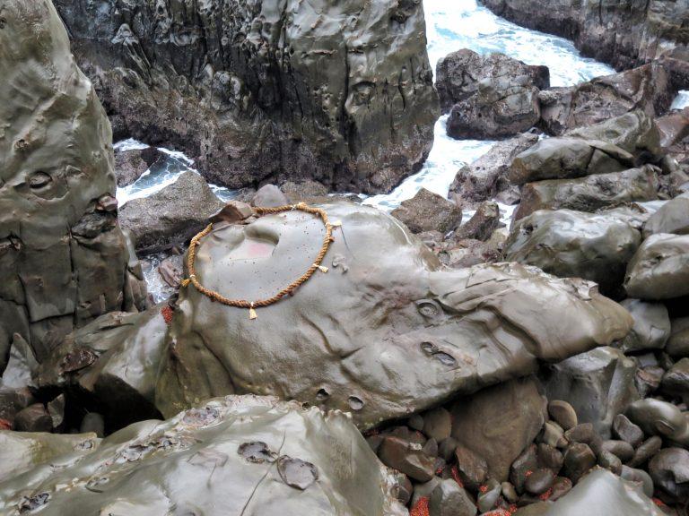 九州自由行-鹿兒島自由行-日本機加酒-福岡自由行-福岡景點-神龜背上的凹洞有不少運玉啊,可惜我拋的被龜殼彈走了