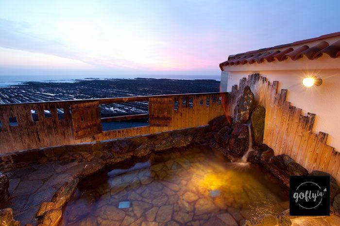 九州自由行-鹿兒島自由行-日本機加酒-「貸切風呂」外就是「鬼之洗板」(酒店圖片)