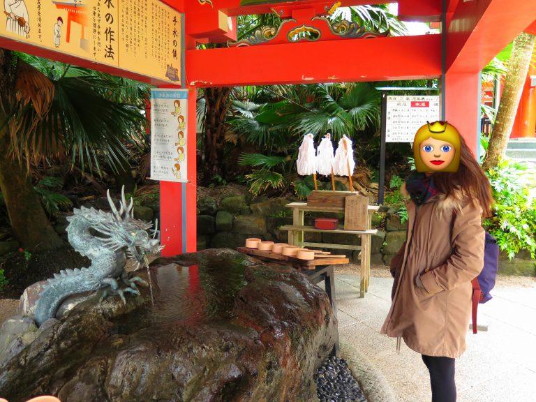 九州自由行-鹿兒島自由行-日本機加酒-入神社前洗洗手是常識吧