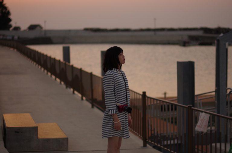 大阪自由行-大阪景點-日落染紅的天色