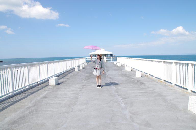 大阪自由行-大阪景點-藍天白雲與海