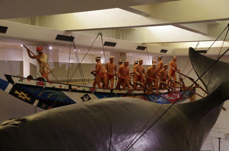 大阪自由行-大阪景點-捕鯨武器和船具