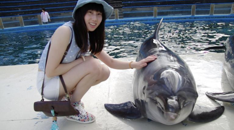 大阪自由行-大阪景點-摸摸海豚