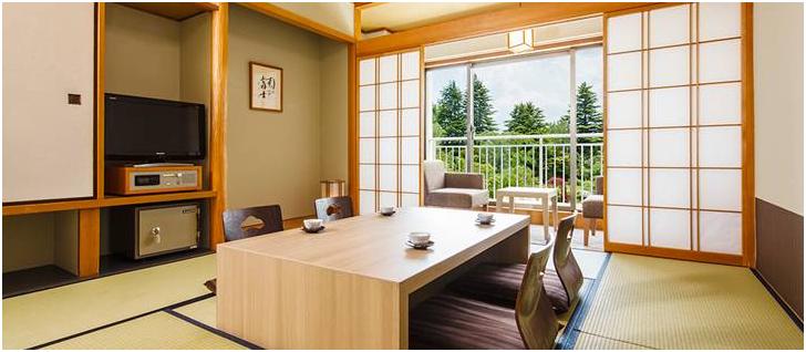 東京自由行-東京景點-東京旅遊-東京住宿-東京機票-旅館的和式房間,連露台