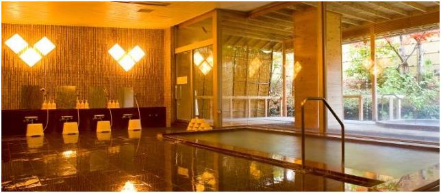 東京自由行-東京景點-東京旅遊-東京住宿-東京機票-旅館的溫泉相當不錯,更備有按摩池