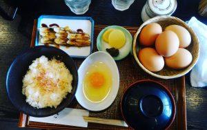 京都自由行-京都景點-大阪自由行-生雞蛋拌飯定食,配菜挑了星鰻