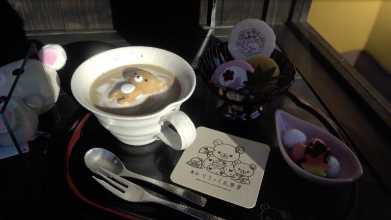 京都自由行-京都景點-茶房外櫥窗擺設的食物模型
