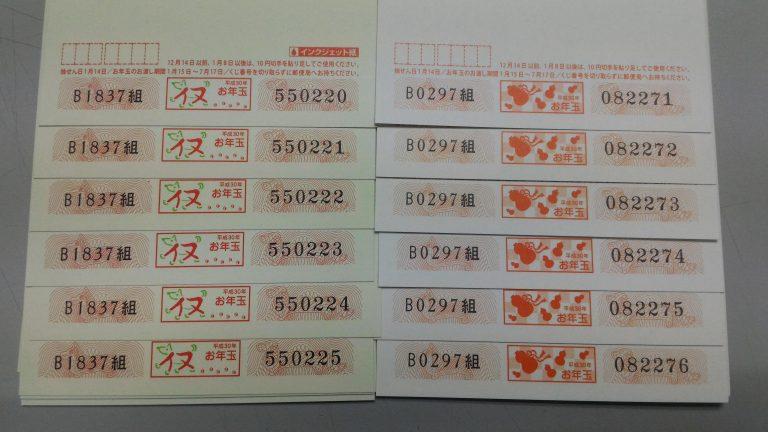 東京自由行-東京必去-東京景點-東京旅遊-年賀狀上印有抽獎號碼