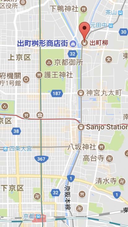京都自由行-京都住宿-京都自由行GoogleMap截圖