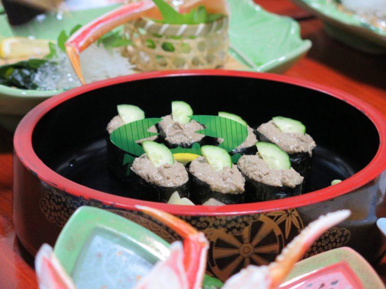 北海道自由行-北海道旅遊-北海道旅遊景點-螃蟹膏壽司,味道香濃,入口餘韻持久