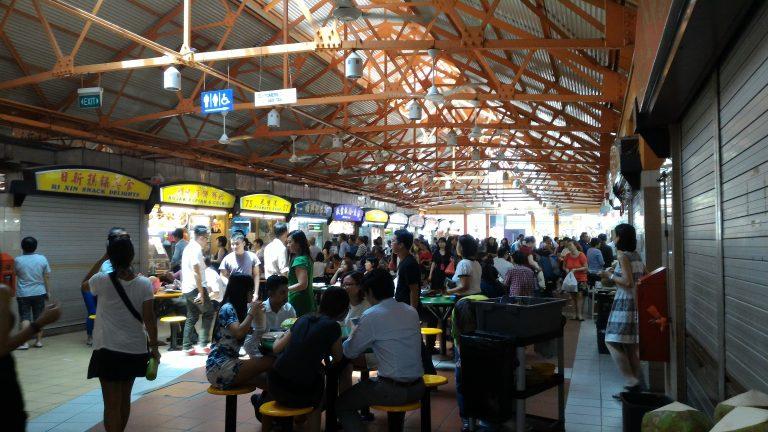 新加坡自由行-新加坡旅遊-新加坡景點-麥士威熟食中心,好熱鬧