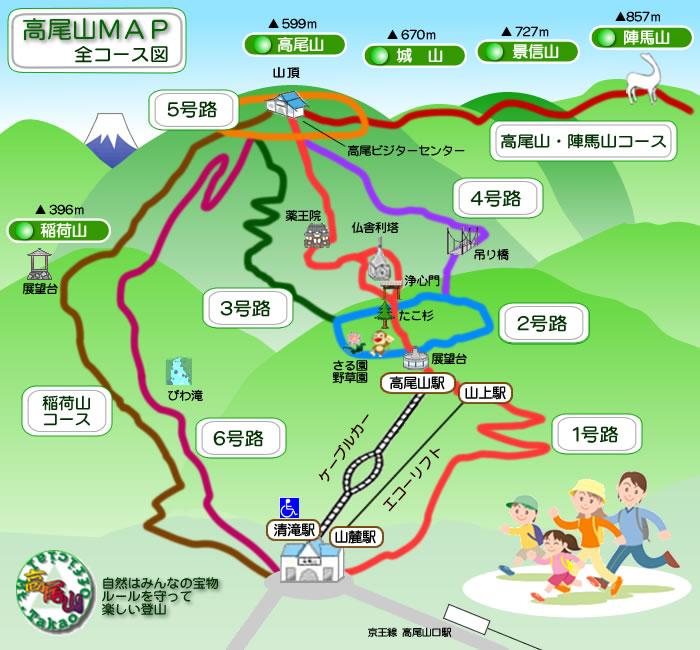 東京自由行-東京機票-東京旅遊-東京景點-東京住宿-東京必去-登山路線圖