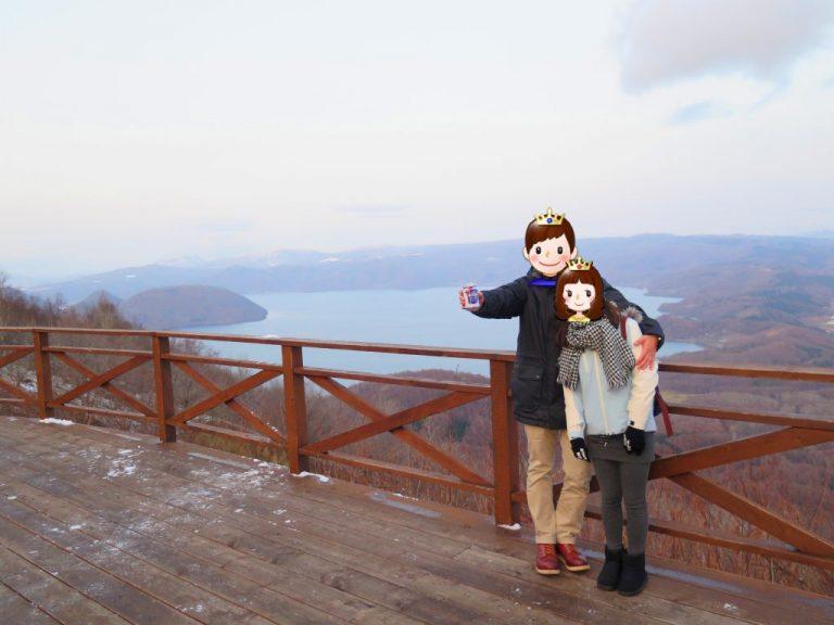 北海道自由行-北海道旅遊-北海道旅遊景點-喝著熱朱古力欣賞平靜的洞爺湖