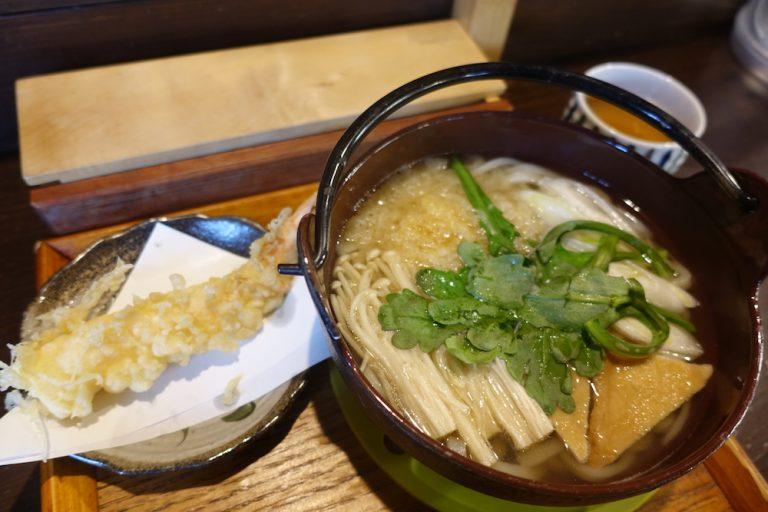 京都自由行-京都景點-鍋燒烏冬的外型、香氣和溫度都相當吸引