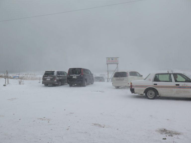 北海道自由行-北海道旅遊-北海道旅遊景點-吃飽過後,雪下得更大