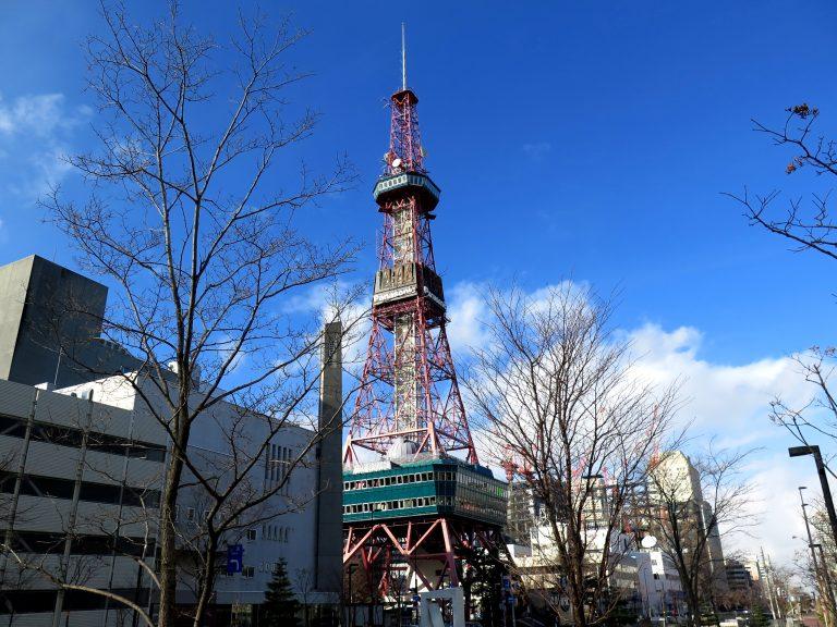 北海道自由行-北海道旅遊-北海道旅遊景點-我們由札幌站出發到二条市場途經札幌電視塔