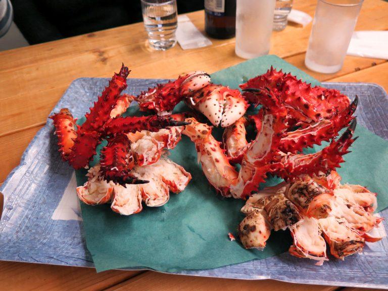 北海道自由行-北海道旅遊-北海道旅遊景點-花咲蟹肉中流出鮮甜味,清蒸不需任何醬料,已是人間極品