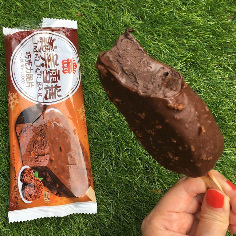 台灣自由行-台北自由行-義美巧克力脆片雪條