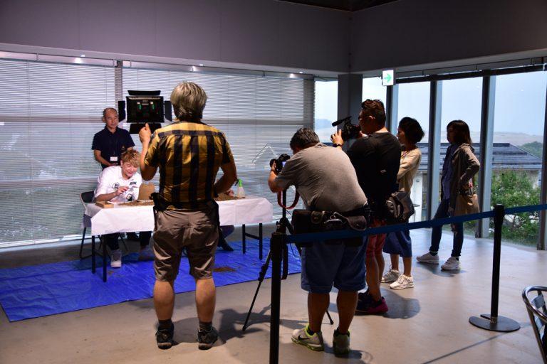 鳥取自由行-到訪時好像有香港電視台在拍攝(還是廣州?!)