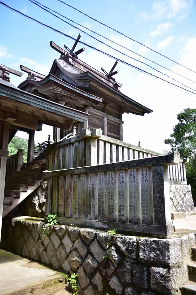 鳥取自由行-神社捐贈者的名牌