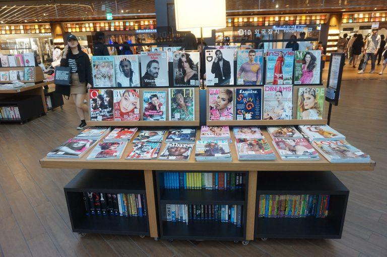 首爾自由行-首爾景點-星空圖書館也有售賣各款雜誌