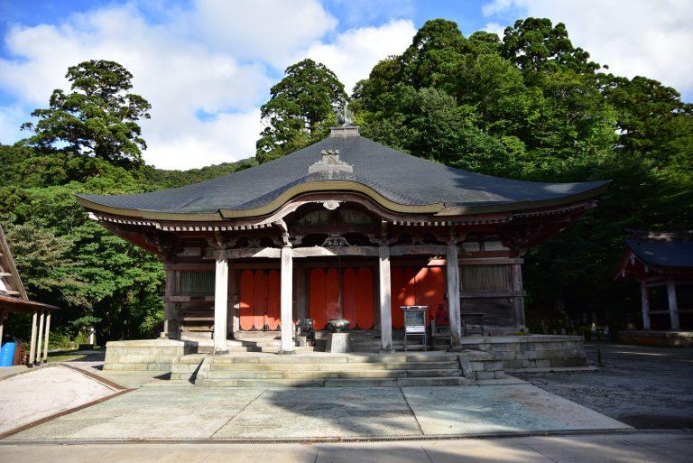 鳥取自由行-離開時再到大山寺,可惜已關門