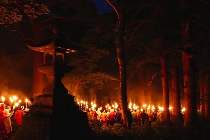 鳥取自由行-大山每年夏季開山前舉行的「大山夏山開幕祭典」