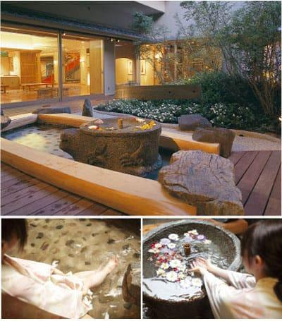 鳥取自由行-湯屋外的手湯、足湯