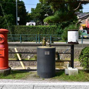 鳥取自由行-大街上經常會出現的神話故事銅像