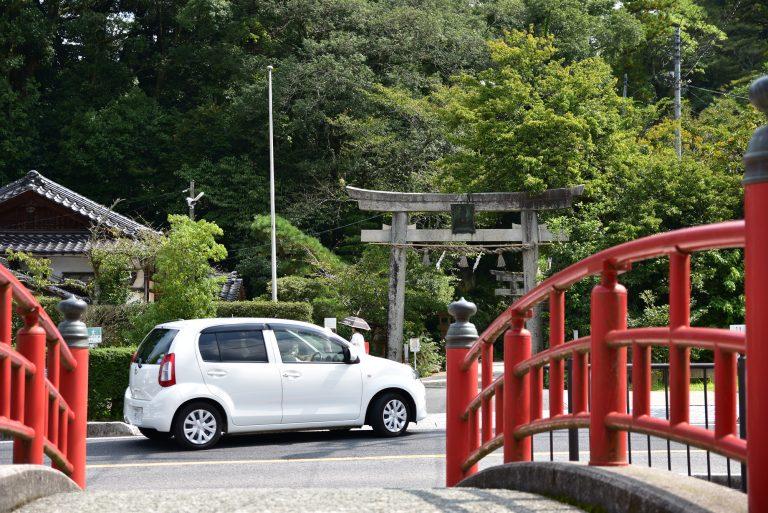 鳥取自由行-據說如果相片中,橋身與玉作湯神社的鳥居能入鏡就可添加戀愛運