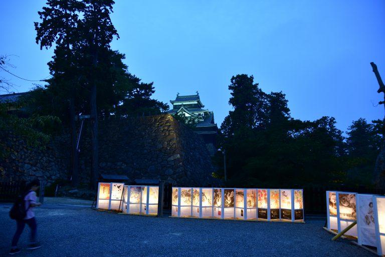 松江城-離開時天已漸黑,天守下還有展覽呢