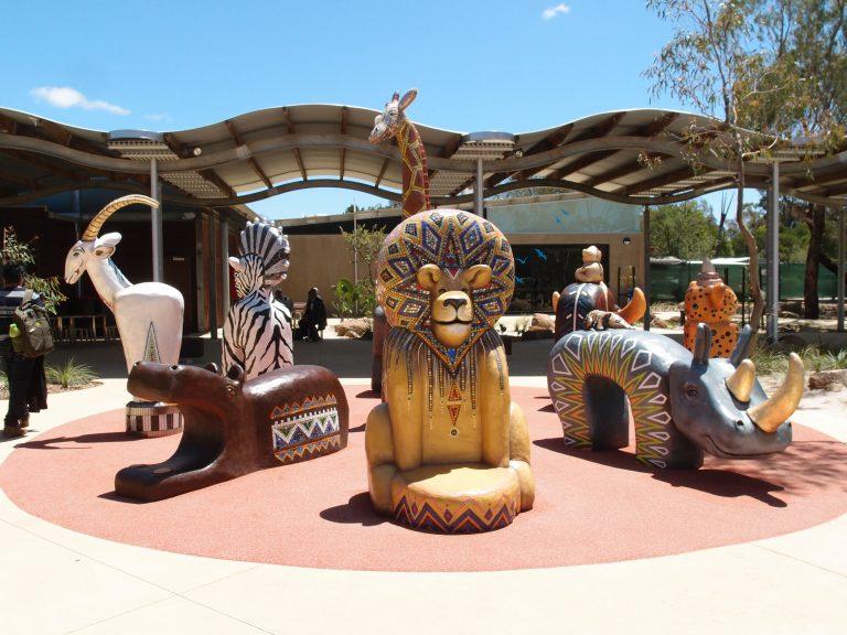 墨爾本景點-墨爾本自由行-melbournetour-Werribee Open Range Zoo的入口處
