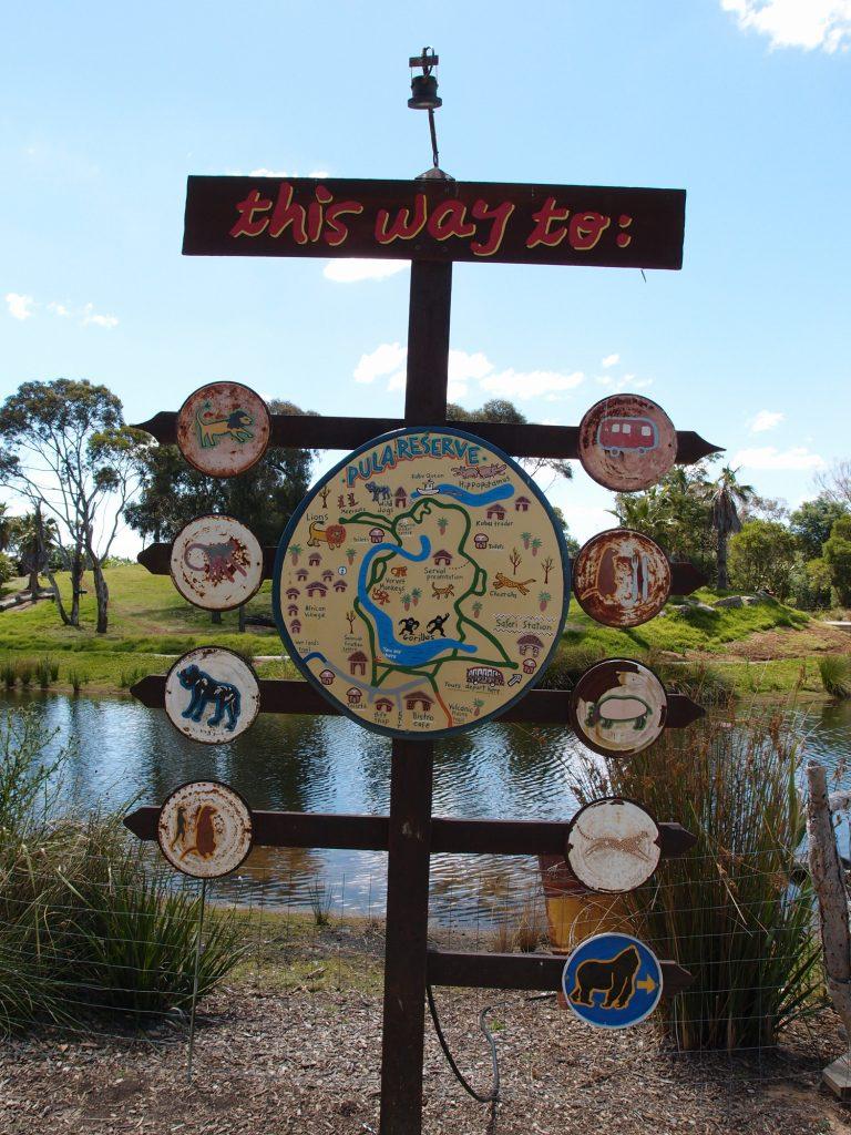 墨爾本景點-墨爾本自由行-melbournetour-動物園的地圖設計可愛,亦非常清晰