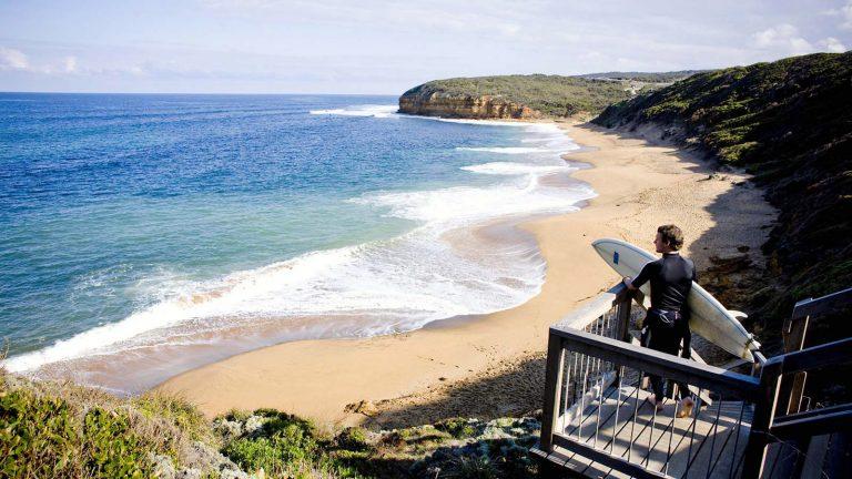 Melbournelocaltour-Melbourne天氣-澳洲旅遊推薦-Torquay小鎮是澳洲其一個受著目的衝浪天堂