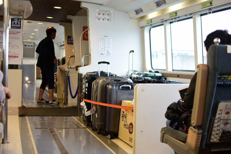 神戶景點-京阪神-淡路-有馬-高速船不大,座位也不算多,雖然人客不多,但如可以都是預訂比較穩陣