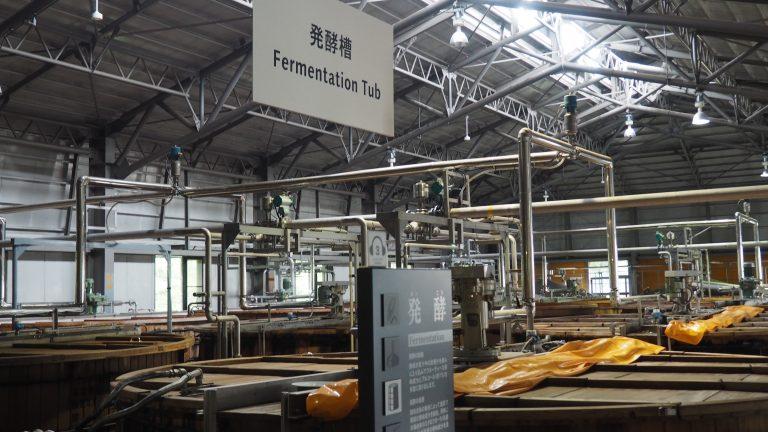 圖中為白州日本威士忌發酵的地方
